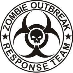 148 best zombie quarantine images halloween crafts halloween Toxic Zombie Mask zombie outbreak response team skull decal