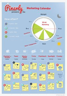 Calendario del marketing en Redes Sociales #infografia #infographic #socialmedia