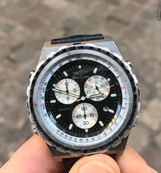 Breitling ad: $1,070 Breitling Jupiter pilot (Chronomat) Acciaio steel 40 mm Ref. No. A59028; Steel; Quartz; Condition 2 (fine); Year 2000; Location: Italy, Senigallia