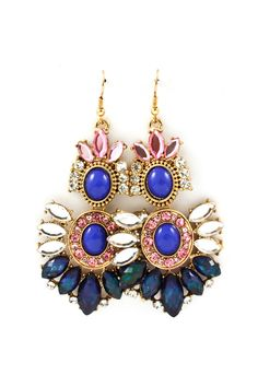 Maggie Chandelier Earrings in Royal on Emma Stine Limited