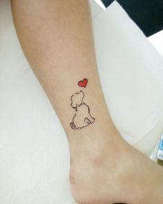 Mini Tattoos, Small Dog Tattoos, Tattoos For Dog Lovers, Cute Tiny Tattoos, Dream Tattoos, Little Tattoos, Beautiful Tattoos, Tattoo Femeninos, Tattoo E Piercing