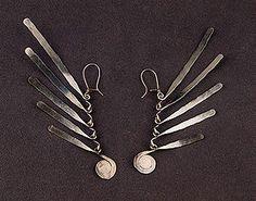 Silver earrings by Alexander Calder, ca.1940
