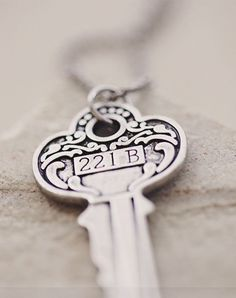 Key to 221B Sherlock Inspired Necklace