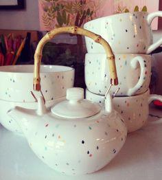 Raindrop Ceramic Teapot | Home Dining & Barware | Sprout Studio | Scoutmob Shoppe | Product Detail