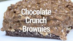 Chocolate Crunch Brownies by Cook'n