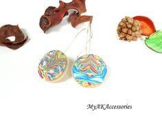 Green modern earrings sterling silver earrings open hoop