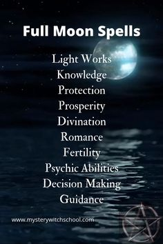 Full Moon Spell These are the kinds of magic best done at a Full Moon … Full Moon Spells, Full Moon Ritual, Full Moon Meditation, Spiritual Meditation, Witchcraft Spell Books, Wiccan Spell Book, Wiccan Witch, Witchcraft Spells For Beginners, Magic Spells