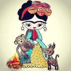 Frida Kahlo Tattoos, Frida Kahlo Portraits, Frida And Diego, Frida Art, Face Art, Art Faces, Mexican Folk Art, Lovers Art, Girl Birthday