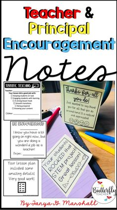 Teachers and Principals need encouragement too! So why wait until teacher appreciation? Show your appreciation to teachers, co-teachers, assistants, and principals with these easy-to-use templates already completed with notes and reminders! Teacher Appreciation Notes, Principal Appreciation, Assistant Principal, Teacher Assistant, Teacher Notes, Appreciation Quotes, School Leadership, Educational Leadership, Educational Websites