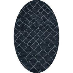 Dalyn Rug Co. Bella Blue Area Rug Rug Size: Oval 4' x 6'