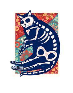 Pequeno Gato Negro de la Bruja | Poppyseed Creative