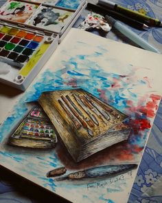 My imagination, my daily sketch, my thick waterproof sketch book, my painting tools, my best friend forever.  Pare, March 31, 2017 Idea, painting, & photography by me.  #ryn #hand #drawing #painting #freehand #indonesia #design #art #illustration #designer #graphic #fullcolor #delight #dream #discovery #development #artstudent #watercolorpainting #brush #freak #pen #dark #sad #scary #brokenheart #alone #feelingblue #tools #imagination #imaginationarts #handdrawing #sketchbook