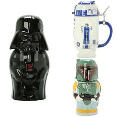 R2-D2, Boba Fett, And Darth Vader Star Wars Steins
