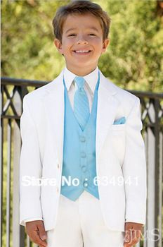 Top selling/Free shipping/Custom Made White tuxedos Boy's Formal Occasion Children Wedding kides Suit Boys Attire A36 comes in gray too
