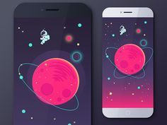 Game app illustration by this is krista