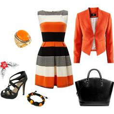 summer orange and black,