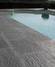 Dalle de piscine Ardoisière de PIERRA en pierre reconstituée