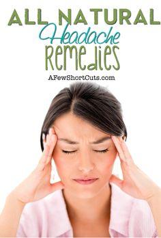 All Natural Headache Remedies #health
