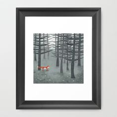 so cute! The Fox and the Forest Framed Art Print by Squirrell - $36.00