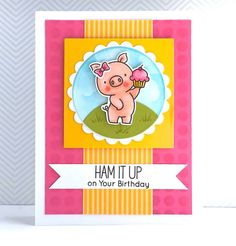 Birdie Brown Hog Heaven stamp set and Die-namics - Lynn Put #mftstamps