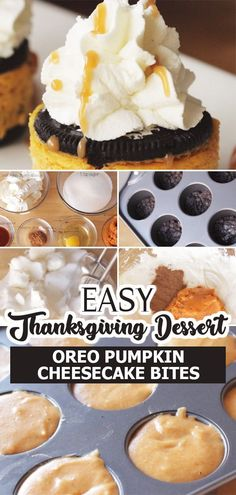 Try these delicious bite-sized desserts made with pumpkin puree and Oreos perfect for you Fall and Thanksgiving parties – Oreo Pumpkin Cheesecake Bites! Enjoy!