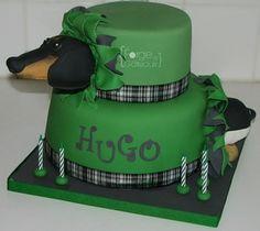 Dog birthday cake - La Forge à Gâteaux