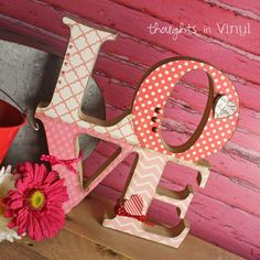 wooden love letters valentines crafts