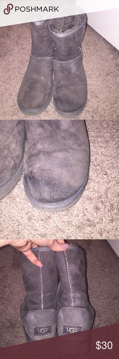 Gray boots Used condition UGG Shoes Winter & Rain Boots