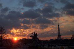 I love you, Paris. Sunset 2003.