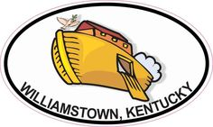 5inx3in Oval Ark Williamstown Kentucky Sticker Luggage Decal Car Stickers