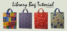 Library Bag TUTORIAL ~ Threading My Way