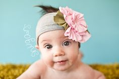 Sweet Heather Snugar headband hair band girls toddler infant baby PINK. $32.00, via Etsy.