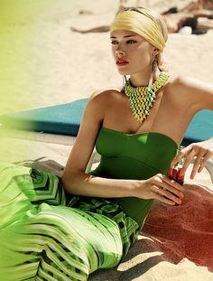 Green sassy chic beach days