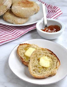 Homemade English Muffins - Pinch and Swirl   Been meaning to try this at home for ages!!