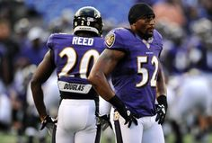 Ed Reed #20 and Ray Lewis #52.. Best defense ever period #nodiscussionnecessary