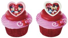 Mickey  Minnie Mouse Cupcake Topper Rings  Set of 12 -- You can get more details by clicking on the image.