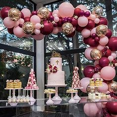 Pink Gold and Burgundy Balloons 70 pcs 12 inch Burgundy Balloons Baby Pink Balloons Gold Confetti Balloons Burgundy and Gold Party Decorations, Burgundy and Gold Wedding Decorations Confetti Balloons Wedding, Bridal Shower Balloons, Pink Balloons, Latex Balloons, 30th Balloons, Balloon Bouquet, Balloon Garland, Balloon Arch, Red Balloon