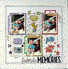Bon Crayon Single Page Layout ⋆ Lady Pattern Paper Scrapbooking Paper Scrapbook Albums, Scrapbook Paper, Scrapbooking, Scrapbook Layouts, Print My Photos, Multi Photo, Happy Today, Grid Design, Good Smile
