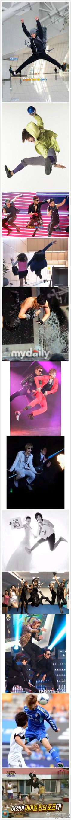 Kim Hyun Joong's awesome jumping skills!   (via 我偶像是极品奇葩's weibo)