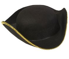 9aba30f7bab Kids Deluxe Tricorn Hat   Pirate Hat - Child Std. .  12.99. Wonderful for  Theater