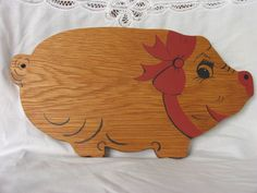 Happy Pig Cutting Board, in Oak