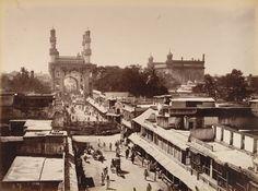 *Principal Street, Hyderabad; a photo by Lala Deen Dayal, 1880's*