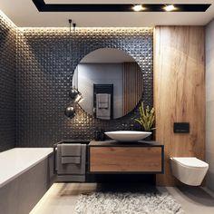 Small Bathroom Interior, Bathroom Design Luxury, Modern Bathroom Design, Washroom Design, Master Bathroom, Wc Design, Toilet Design, Home Room Design, Home Interior Design