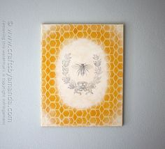 I've been getting the itch to redecorate and change out some of my paintings for new ones. I wanted to experiment with some yellow and know that honeycomb patterns are definitely trendy right now. I love the bee designs that are out there, so I decided to combine some stenciling and image transfer to createRead More »