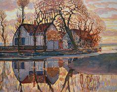 Piet Mondrian - Farm near Duivendrecht - 1916