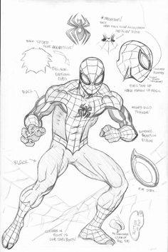 Curioso esquema del traje de Superior Spiderman                                                                                                                                                                                 Más