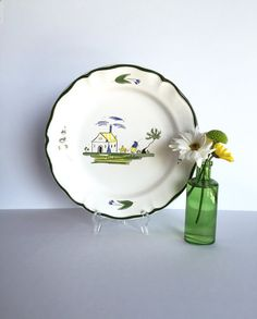 Vintage Cabanon by Varages Plate by SandHollowVintage on Etsy