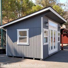backyard shed makeover Pool Shed, Backyard Sheds, Outdoor Sheds, Backyard Patio, Backyard Office, Backyard Studio, Shed Conversion Ideas, Shed Makeover, Tuff Shed
