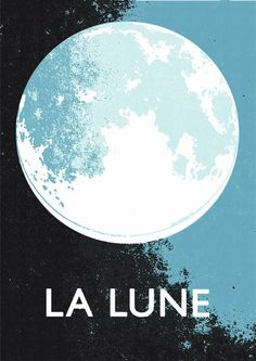 La Lune - Blue Moon print by Double Merrick    http://doublemerrick.myshopify.com/products/copy-of-la-lune-special-edition-grey-print#