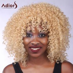 Vogue Blonde Meduim Capless Shaggy Curly Heat Resistant Synthetic Adiors Wig For Women #>=#>=#>=#>=#> Click on the pin to check out discount price, color, size, shipping, etc. Save and like it!